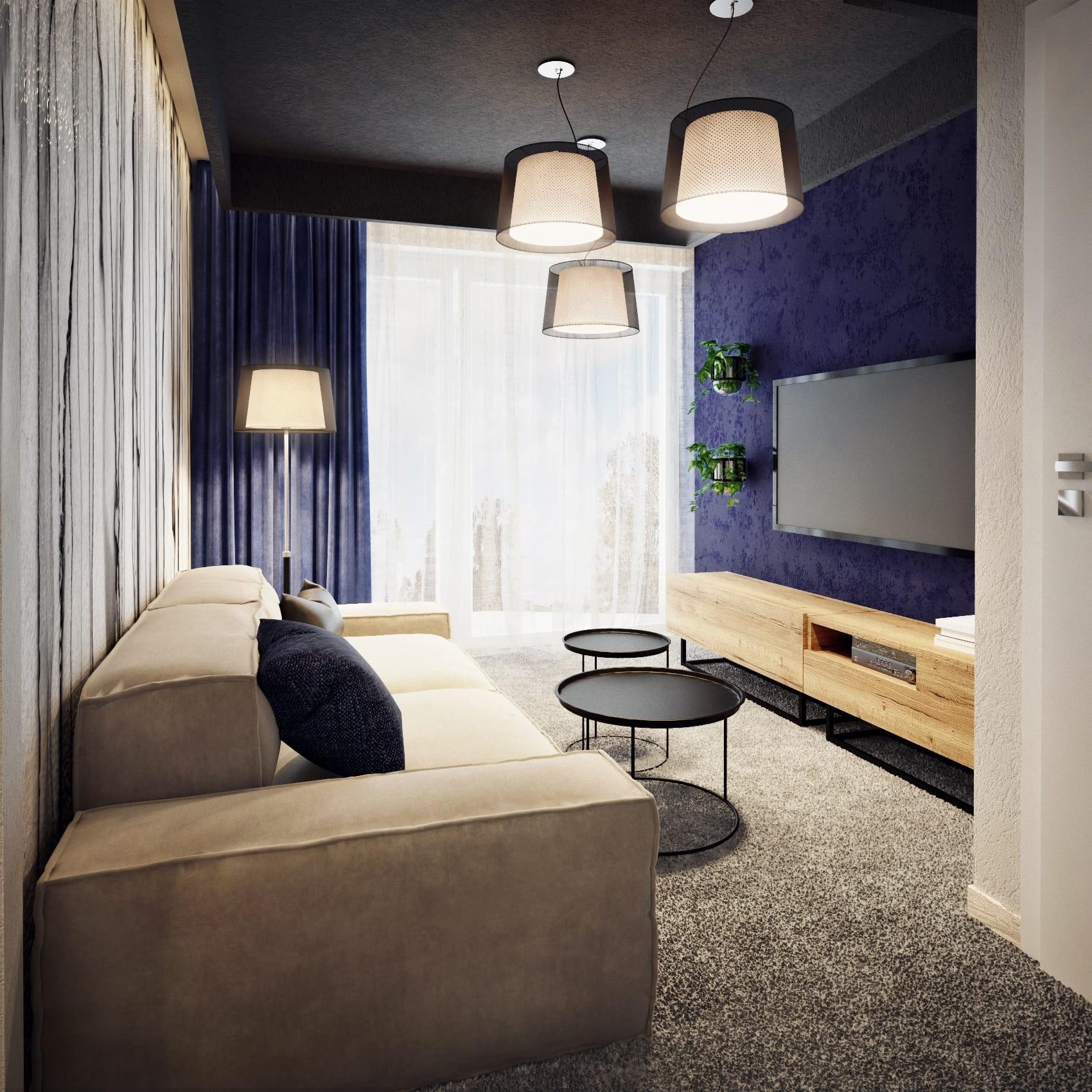 Pokój nastolatka z tynkien dekoracyjnym