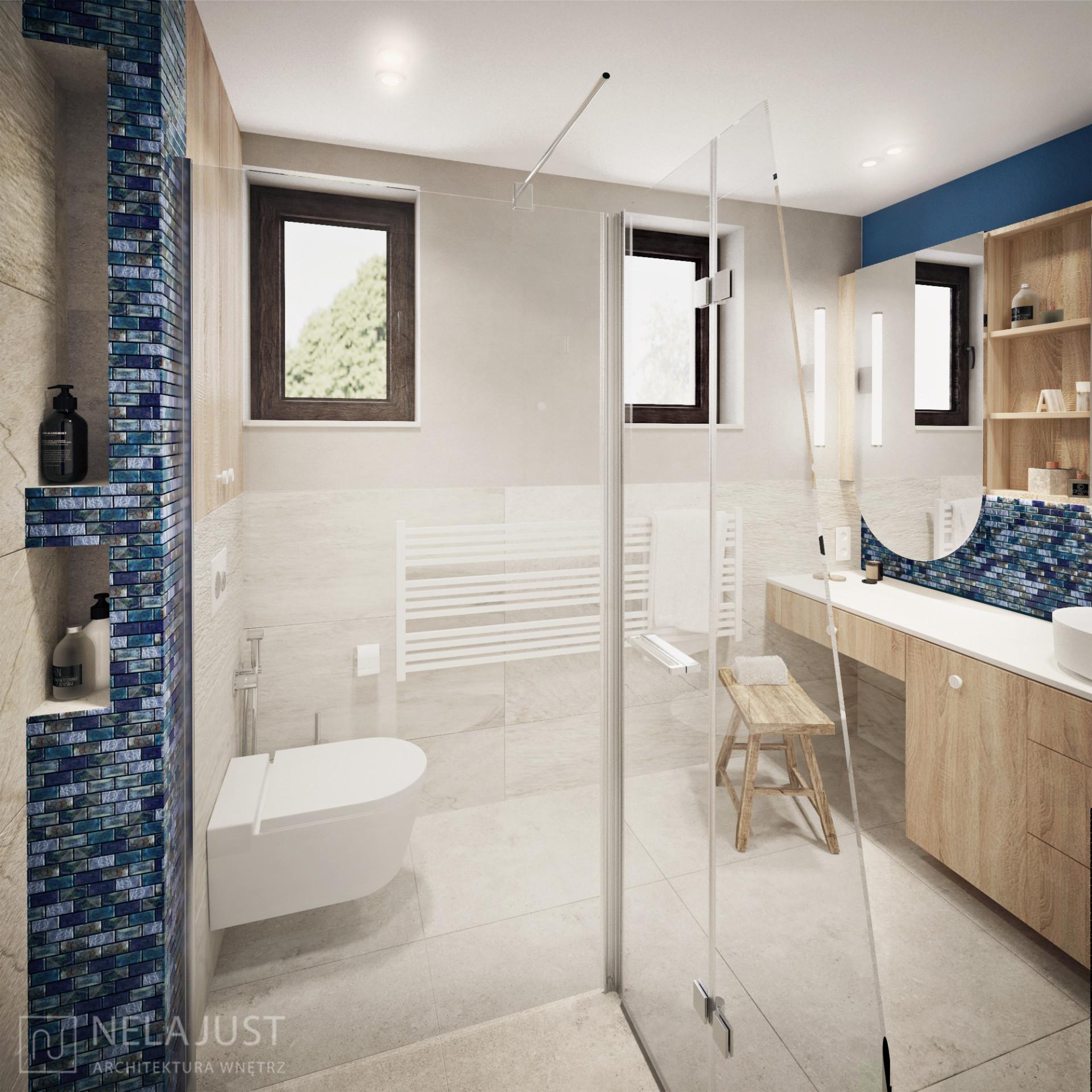 półki wnękowe w łazience