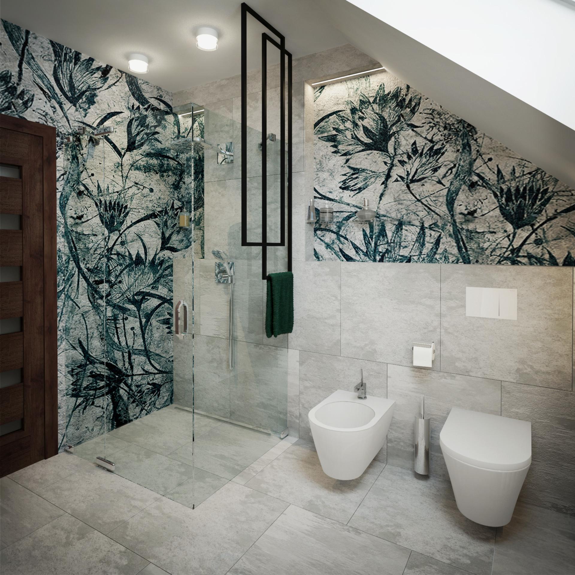 półki łazienkowe w zabudowie