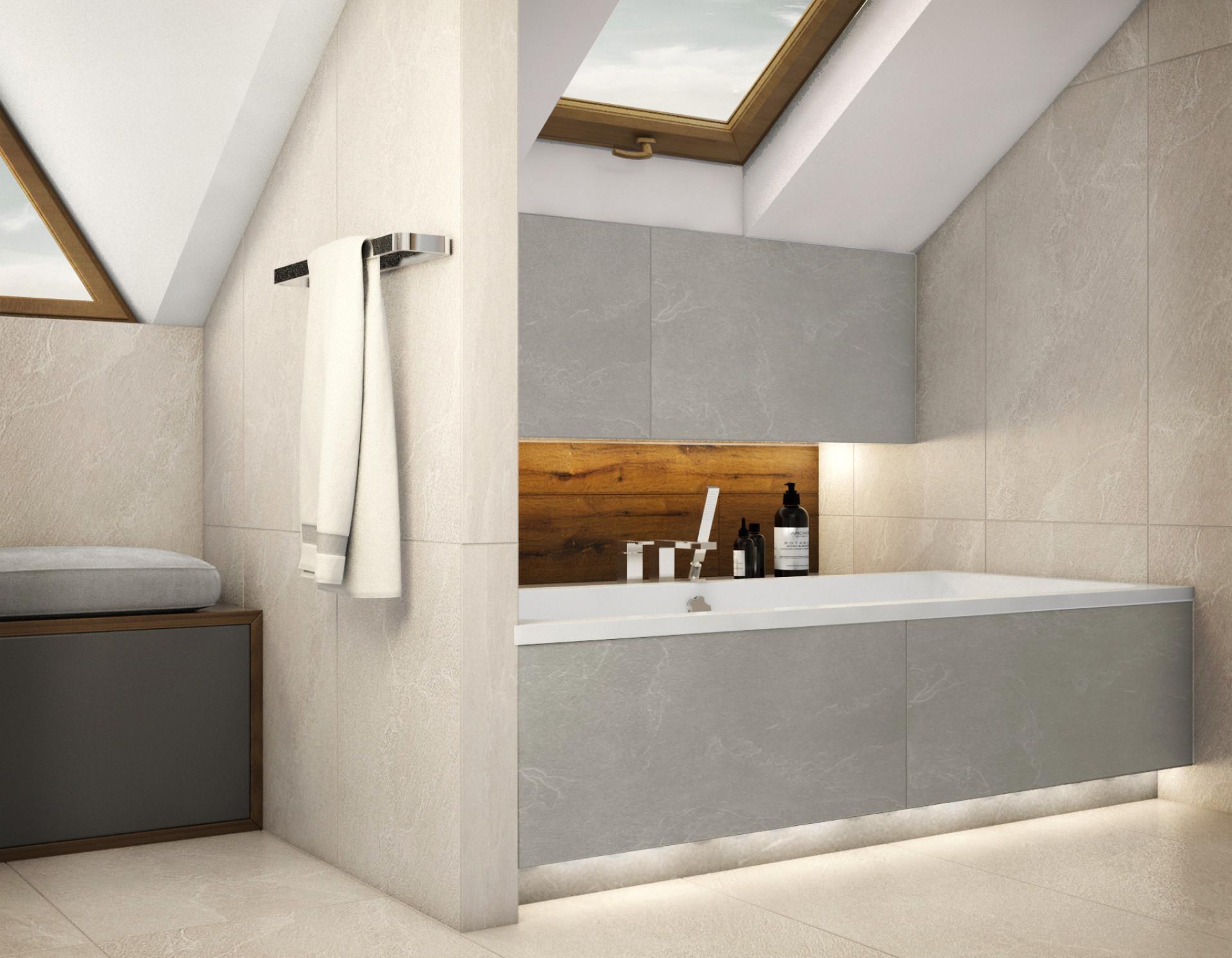 półka w łazience na poddaszu
